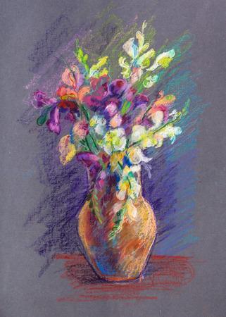 pharynx: Bouquet of flowers a lions pharynx Stock Photo