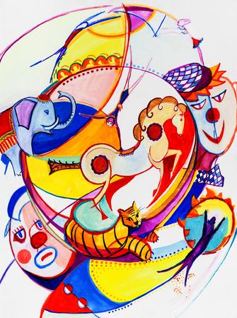 cubismo: Circo en nuestra imaginación de una manera cubismo