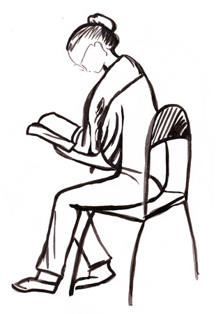 instant: Instant sketch, figure of sitting woman