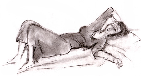 instant: Instant sketch, girl takes a rest