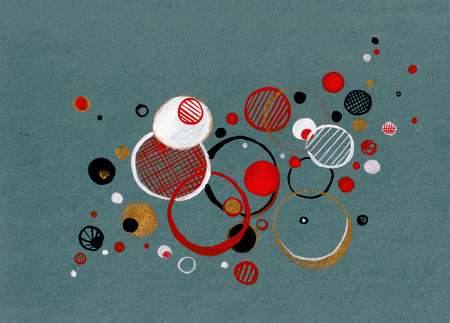 Abstract spheres in abstract style, joy