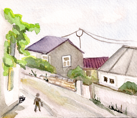 Narrow streets of Batumy, sunny summer day