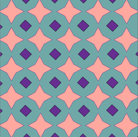 decorative pattern with geometric figures Vector illustration. Ilustração