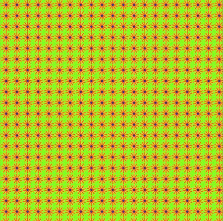 decorative pattern with orange stars on green Vector illustration.