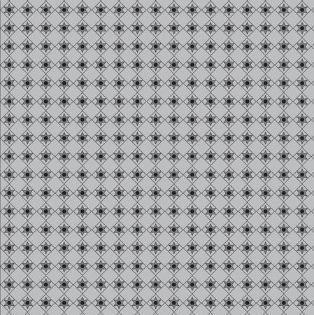 decorative pattern with geometric figures on grey Vector illustration. Ilustração