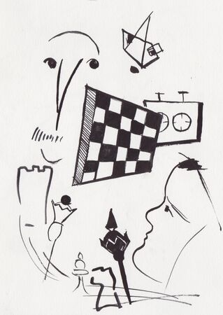 fantasy picture, game of chess, tournament