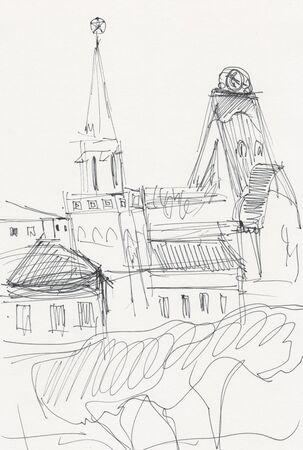 instant sketch, Moscow, Yaroslavsky trainstation