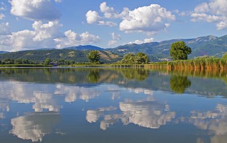 rieti: Lake Ripasottile in Rieti in Italy