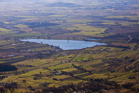 rieti: Lake in Rieti, Italy. Reserve of Lakes along and Ripasottile