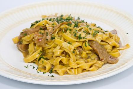 kilos: Italian cuisine, pasta with porcini mushrooms