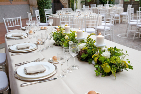 Floral arrangements for wedding in Rome in Italy