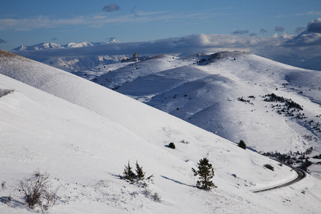 Winter in the National Park of Abruzzo in Italy Stock Photo - 49087950