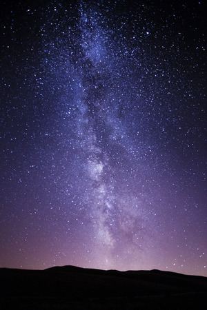 The Milky Way photographed by the National Park of Abruzzo in Italy Stock Photo - 49690939