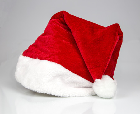 christmas hats: Santa Claus hat Stock Photo