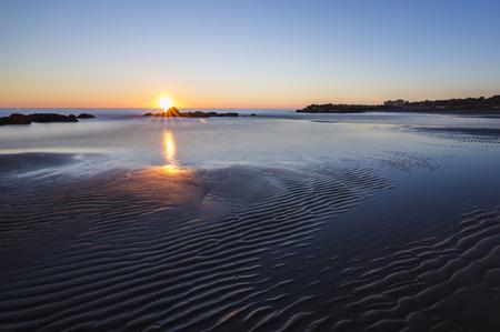 tyrrhenian: Sunset at the Tyrrhenian sea in Italy