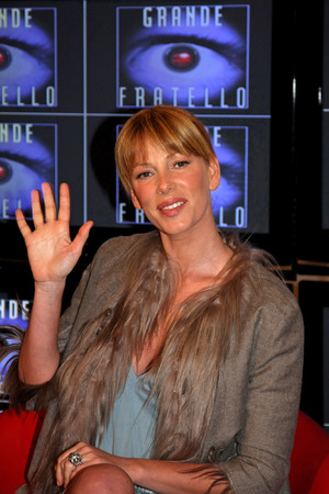 big brother: Alessia Marcuzzi in Rome. CinecittPress conference of italian reality television show Big Brother 8. Editorial