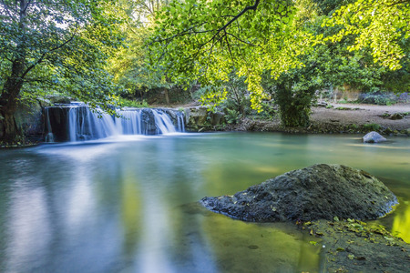 Waterfalls in the province of Rome in Italy Stock Photo - 50049017