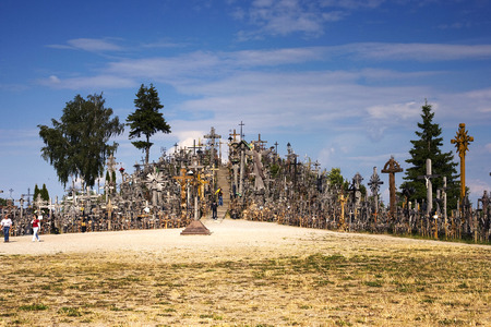 lithuania: Hill of crosses in Lithuania