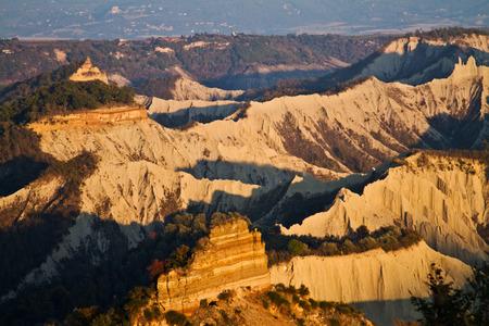 lazio: Landscape near Civita of Bagnoregio in the province of Viterbo in Italy on
