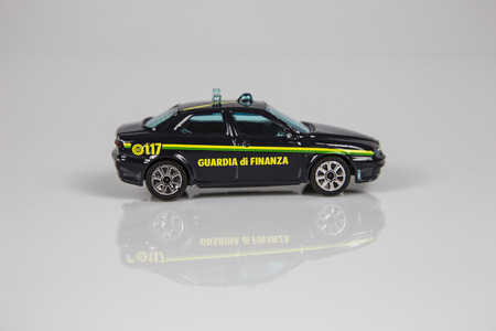 toy car: Toy car financial police Stock Photo