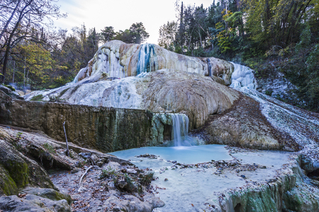 Spa baths st Philip in Tuscany, Italy Stock Photo