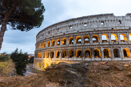 internships: Cityscape of the Colosseum in Rome during the Christmas holidays