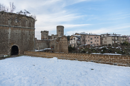 viterbo: Ancient medieval fortress in the province of Viterbo in Lazio in Italy Editorial