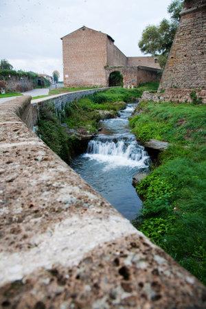 Antica fortezza medievale in provincia di Viterbo nel Lazio in Italia. Archivio Fotografico - 57137998