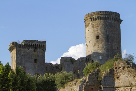 viterbo: Ancient medieval fortress in the province of Viterbo in Lazio in Italy.