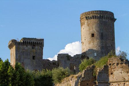 Antica fortezza medievale in provincia di Viterbo nel Lazio in Italia. Archivio Fotografico - 57137999