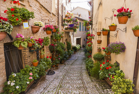 spello: Spello. Medieval town in central Italy in Umbria. Stock Photo