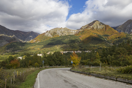 rieti: AMATEUR, ITALY - OCTOBER 17, 2015: Amateur in town in the province of Rieti in Italy. City destroyed by an earthquake in August 24, 2016. Stock Photo