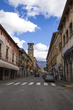 rieti: AMATEUR, ITALY - OCTOBER 17, 2015: Amateur in town in the province of Rieti in Italy. City destroyed by an earthquake in August 24, 2016. Editorial