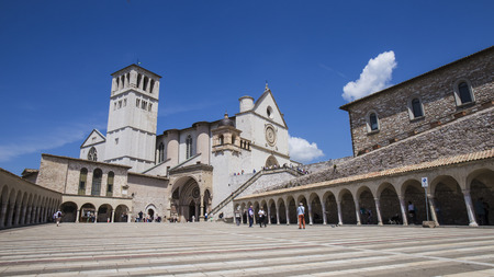 of assisi: Assisi, a beautiful medieval town in central Italy.Basilica of St. Francis.