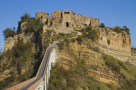 Civita of Bagnoregio, ancient medieval village in the province of Viterbo in Italy Stock Photo