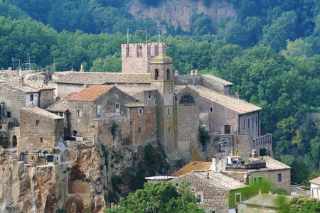 Calcata, a medieval village in Italy.