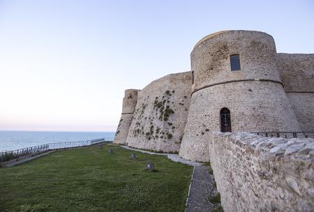 Aragonese castle in the Trabocchi coast in Abruzzo, Italy.