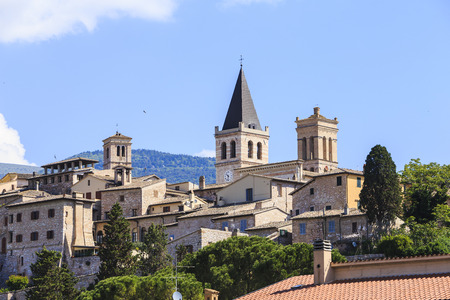 Spello. Beautiful medieval town in central Italy in Umbria Stock Photo