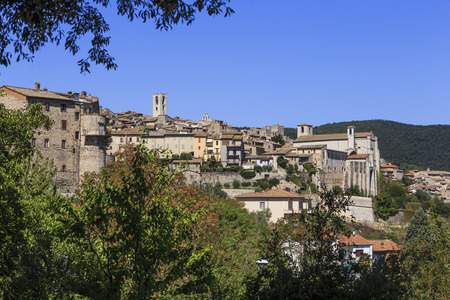 Landscape with the beautiful city of Narni in Italy. Stock Photo