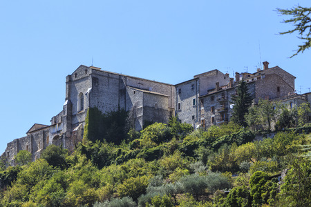 terni: Landscape with the beautiful city of Narni in Italy. Stock Photo