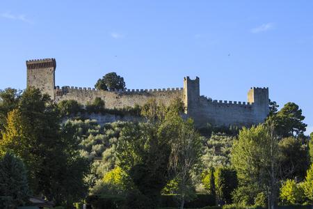 Medieval fortress Rocca del Leone at Castiglione del Lago in Umbria