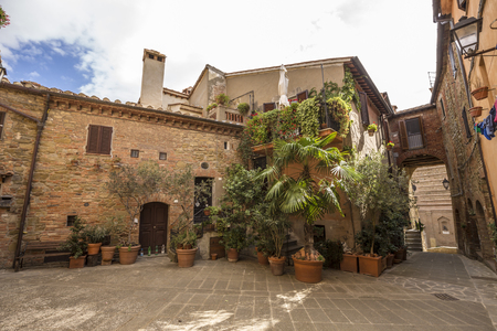 Panicale, an ancient medieval town in the province of Perugia in Italy. Stock Photo - 85235360