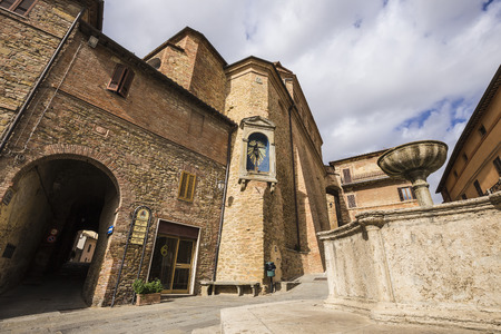 Panicale, an ancient medieval town in the province of Perugia in Italy Editorial