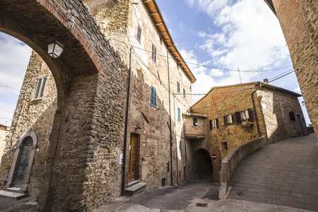 Panicale, an ancient medieval town in the province of Perugia in Italy Stock Photo - 85179232