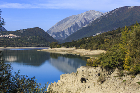 Lake Barrea in the National Park of Abruzzo in Italy. Stock Photo - 85475684