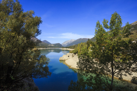 Lake Barrea in the National Park of Abruzzo in Italy. Stock Photo