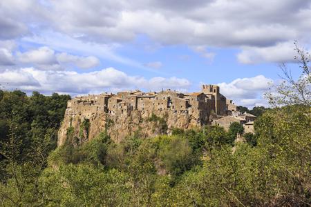 Calcata, a medieval village in Italy.