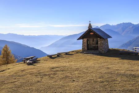 Church on the mountains of Valtellina, Italy. Stock Photo - 90028632