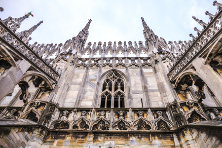 Detail of Milan Cathedral in Italy. Stock Photo