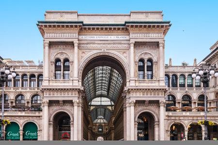 MILAN, ITALY - NOVEMBER 04, 2017: Milan, Gallery Vittorio Emanuele II in the square of Duomo in Italy on November 4, 2017. Stock Photo - 90048454